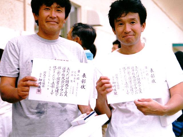 関西テニス選手権大会にて