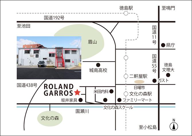 ローランギャロス地図